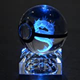 S-SO 3D crystal Gyarados Pokemon Go Pokeball Night 7 color changing desk lamp light