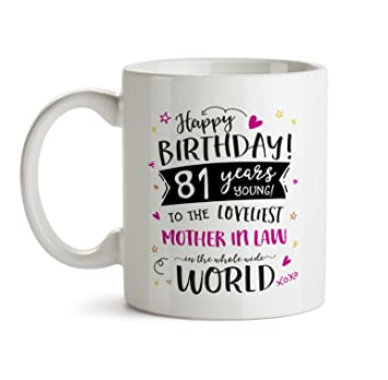 81st Happy Birthday Gift Mug