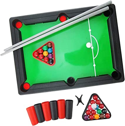 sharprepublic Kid Mini Pool Pool Billar W/Balls & Sticks Home Toys Juegos De 33x24x6.5cm: Amazon.es: Deportes y aire libre
