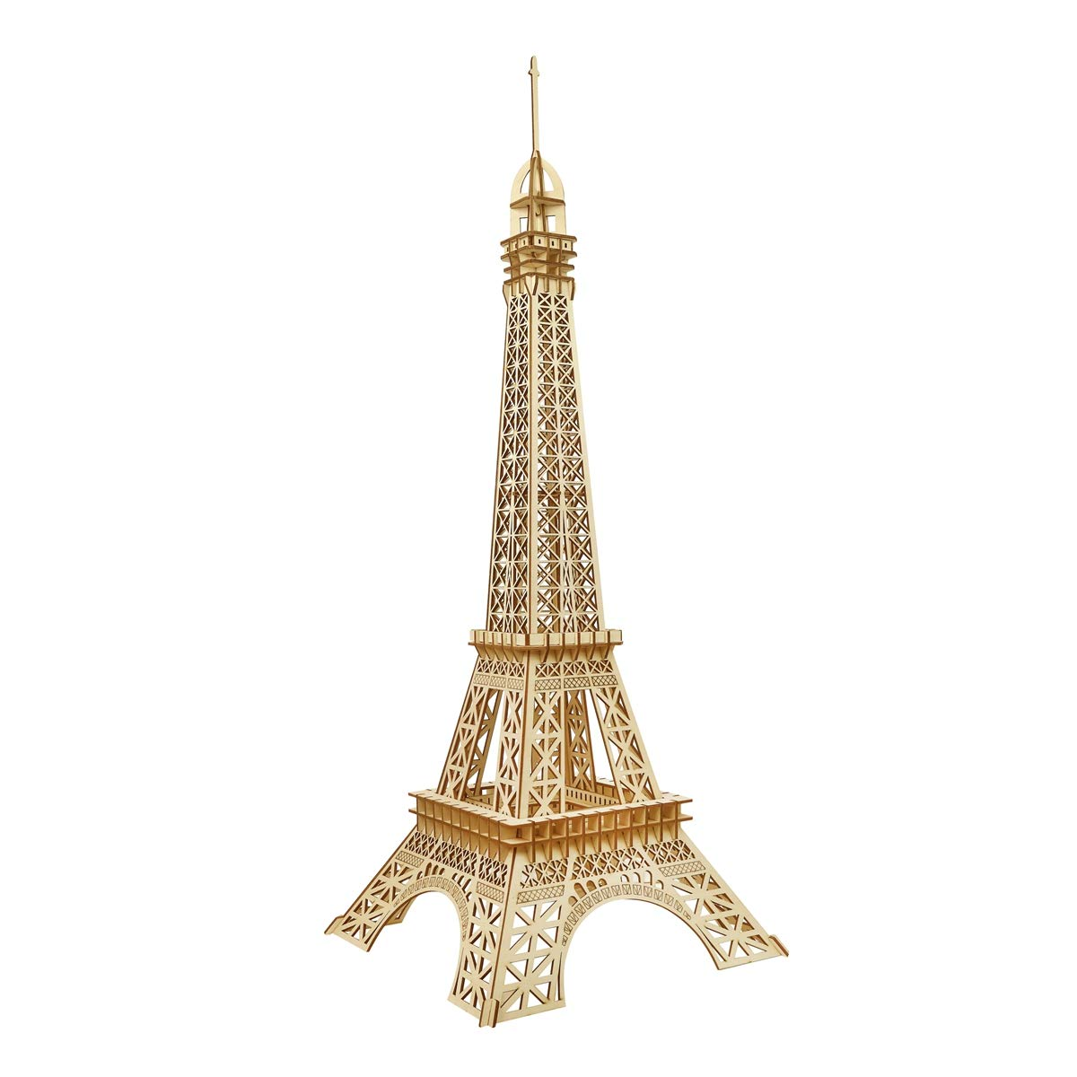 AHWZ 3D Puzzle DIY Wooden Jigsaw Puzzle Holzhandwerk Eiffelturm 105pc