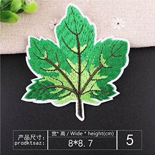 6 hojas de /árbol estilo multicolor Coser O Planchar En Los Parches Apliques Para Ropa Camiseta Jeans Sombrero Bolsas Bolsas
