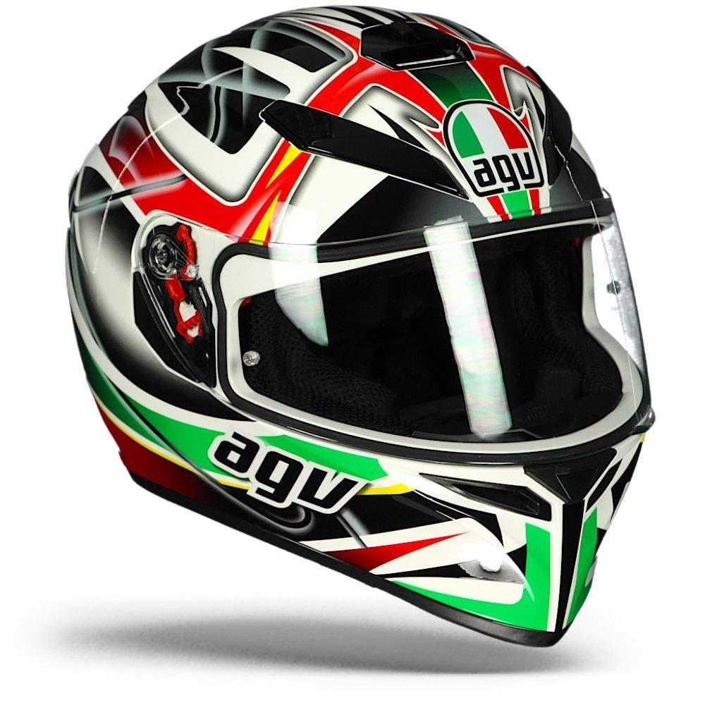 AGV 0301a2ey/_006 Casco da Moto Multicolore RAV Nero//Bianco//Rosso//Verde XS