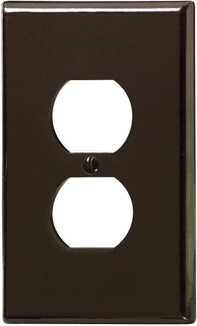Device Mount Oversized White 88103 1-Gang Duplex Receptacle Wallplate Thermoset Leviton