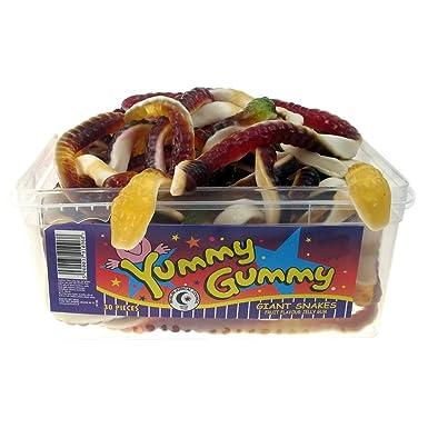 Halal Yummy Gummy Jelly Giant Snakes (tub of 30): Amazon co uk: Grocery