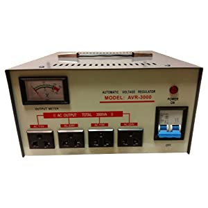 3000 Watt Step Up/ Down Voltage Converter Transformer AVR-3000 , 5 Year Warranty, Fuse Protection and Automatic Voltage Regulator - Two Way Transformer - 110 to 220 V or 220 to 110 V 110/120/220/240V