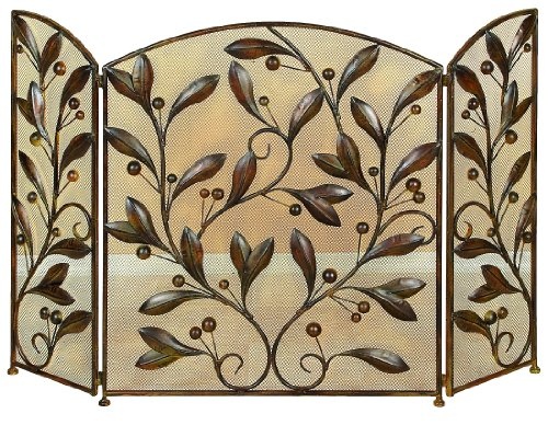 - Deco 79 71889 Metal Fire Screen, 48