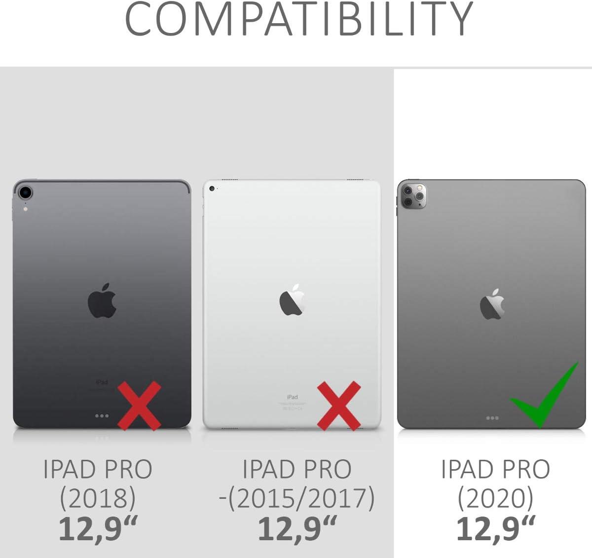 2020 Bicolor Rosa Fucsia//Azul//Transparente - Carcasa Trasera para Tablet de TPU kwmobile Funda Compatible con Apple iPad Pro 11
