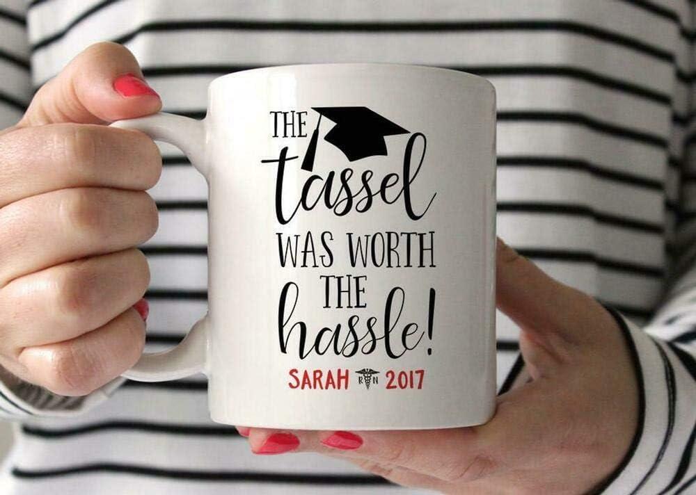 Divertida taza de café, regalo de graduación para enfermera, enfermera, regalo de graduación universitaria, enfermera, taza de té, taza de café, taza de café de 325 ml, regalo para mujeres y hombres