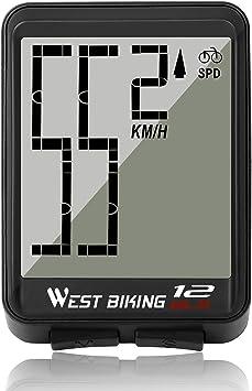 LuTuo Cuentakilómetros para Bicicleta, inalámbrico, Resistente al ...