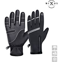 NIXUS Cyclery Winter Cycling Gloves, Warm Windproof Touchscreen Perfect for MTB, Road, Gravel, Bikepacking Cycling and Running