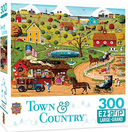 (MasterPieces Puzzle EZGrip Town & Country, Extra Large Jigsaw Puzzle, Share in The Harvest, Featuring Art by Joe Holodook, 300 Pieces, for Ages 9+, Assorted)