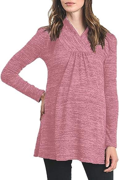 Falda Maternidad Camiseta de Lactancia Embarazadas Lisos ...