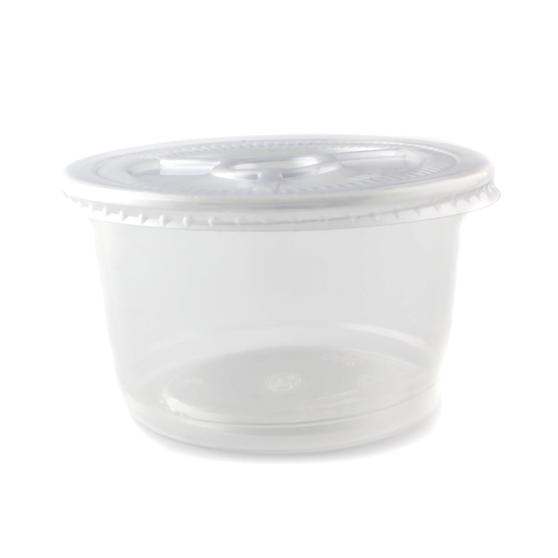 9oz Plastic Round Jello Shot Glasses Souffle Portion Cups with Lid, 100 Count