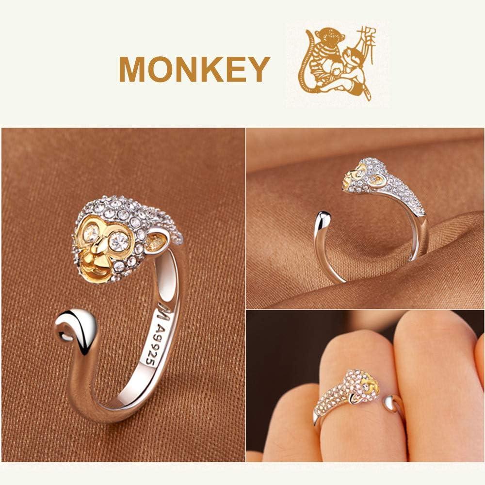 shelian Finger Ring Cute Crystal Rhinestone Accessories Charm Lodestar