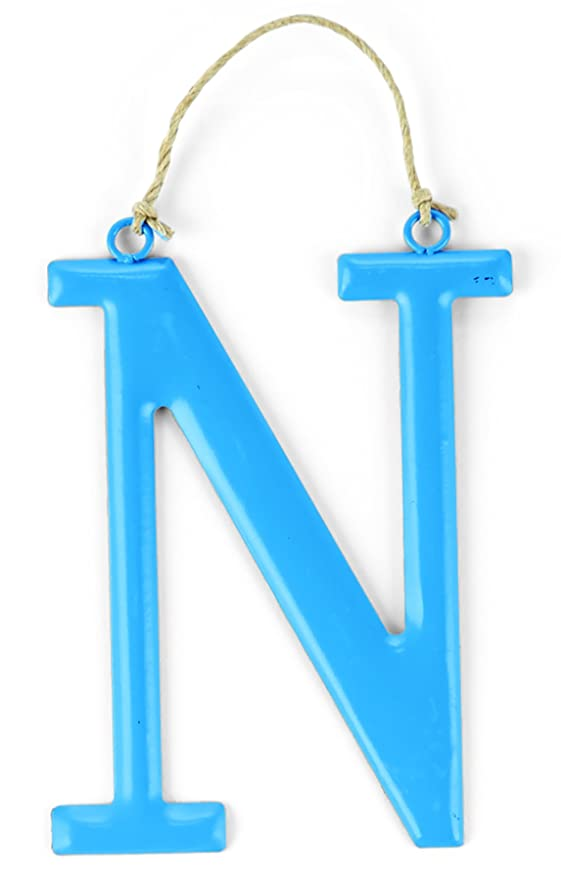 """Blue or Pink NEW Letter /""""W/"""" by Mud Pie Initial Wall Hanger"""