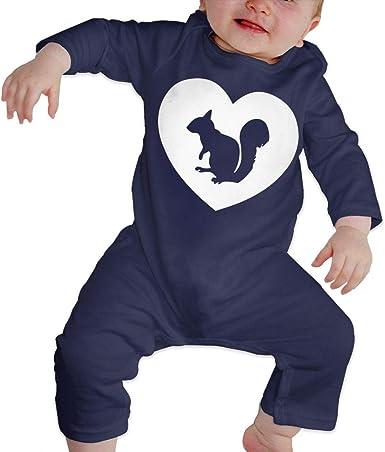 Mri-le1 Newborn Kids Jumpsuit Cute Squirrel Baby Rompers