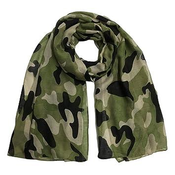 Kimloog Femme Mode Camouflage Écharpe Doux Léger Pashmina Automne Hiver  Châle Wraps H 2c3ce41ceef