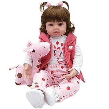 7a8cd6b003 Boneca Bebê Reborn Menina Realista Membros De Silicone 48 cm  Amazon ...