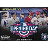 2017 Topps Opening Day Baseball Series Unopened Blaster Box with 11 Packs of 7 Cards Possible Autographs and Game Used Relics Cards