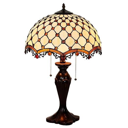 Amazon.com: HT Tiffany - Lámpara de mesa de cristal, color ...