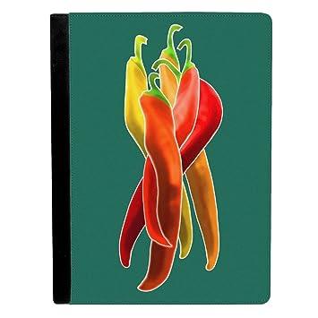Colores Chile Peppers Apple iPad Pro 9.7 Inch Funda de piel funda para tablet: Amazon.es: Electrónica