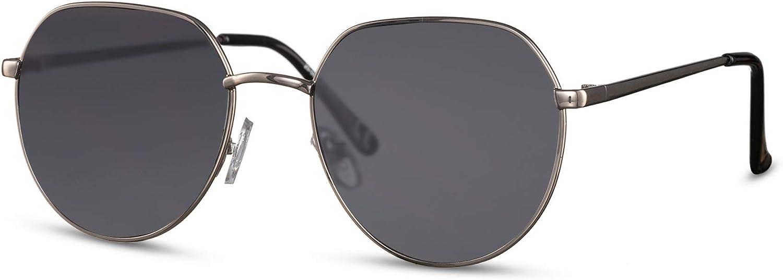 Cheapass Lunettes de soleil Petites Rondes en M/étal Style /à Haut Plat Protection UV400 Hommes Femmes