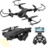 UniDargon FPV RC Foldable Drone S9 with 3D Flips 2.0MP HD Camera Live Video 2.4Ghz 4CH 6-Axis Gyro Quadcopter with Altitude Hold Gravity Sensor Large Capacity Battery Helicopter (S9-1)