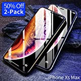 Screen Protector Compatible iPhone Xs Max, [2-Pack] Ultra Slim Tempered Glass Screen Protector Compatible Apple iPhone XsMax & iPhone 10s Max 6.5 inch (2018), [Case Friendly] Anti-Fingerprint Ainope