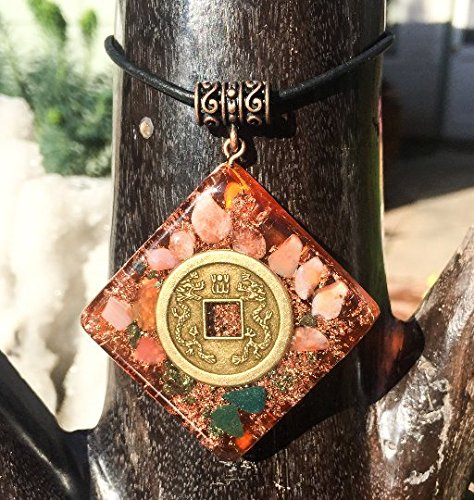 I Ching Talisman/Double Dragon Orgone Pendant
