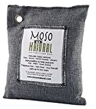 #8: Moso Natural Air Purifying Bag. Odor Eliminator for Cars, Closets, Bathrooms and Pet Areas. Captures and Eliminates Odors. Charcoal Color, 200-G