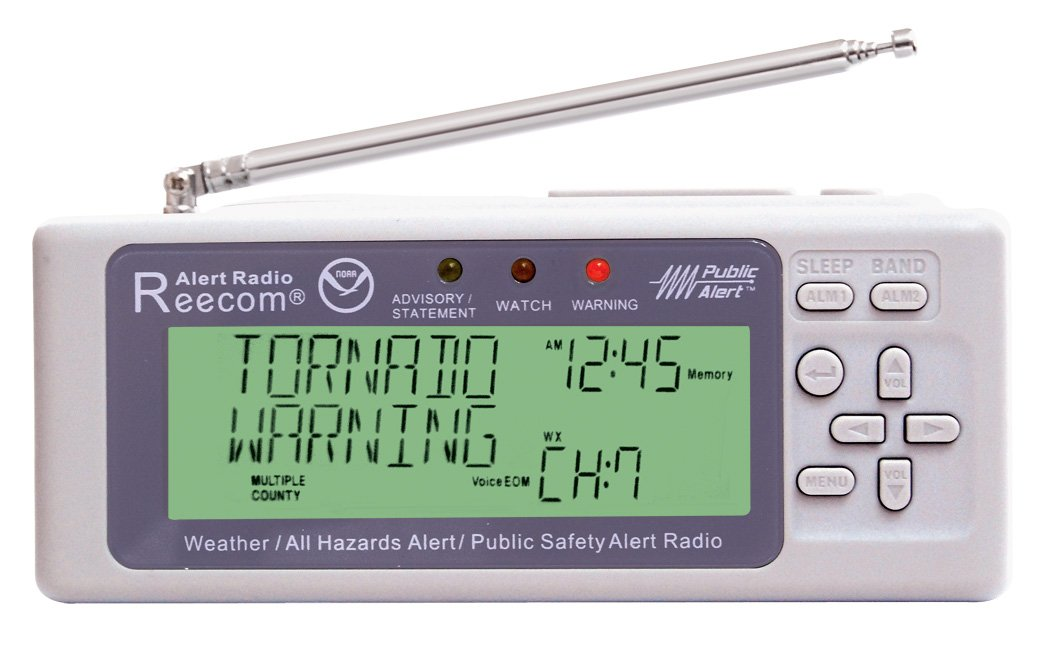 Unique Simultaneously Watch Multiple Channel Alerts (in Standby) with EOM Detection, Reecom R-500 Same Weather Alert Radio with AM/FM (Light Grey) by Reecom (Image #4)