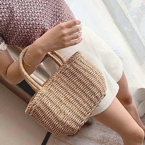 Broadroot Basket Zipper Mujer Para Bolso Bag Al A Hombro F Circle rxAgrSqw