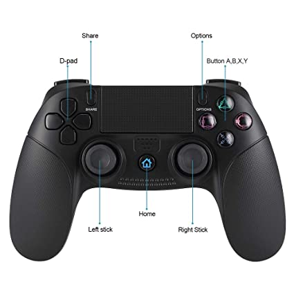 Pekyok Wireless Controller para PS4, SW02 clásica Controlador Joy Stick Gamepad Wireless Game Controller con DualShock Conexión Bluetooth para Sony ...