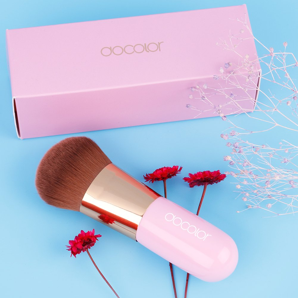 Docolor Foundation Make Up Brushes Contour Face Powder Blush Cosmetic Perfect for Powdered Mineral Make Up Green Belle Xixi DA002