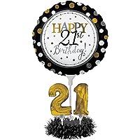 Globo - Kit de centro de mesa, Happy 21st Birthday, Happy 21st Birthday, 1