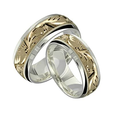 Amazon Com Alain Raphael 2 Tone Sterling Silver And 10k Yellow Gold