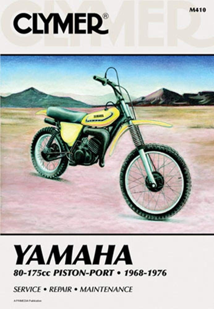 Clymer Repair Manual for Yamaha 80-175 Enduro MX 68-76 on