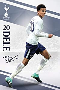 Tottenham Hotspur 2017-18 DELE ALLI Wall Poster 24' x 36' Officially Licensed Ships from USA