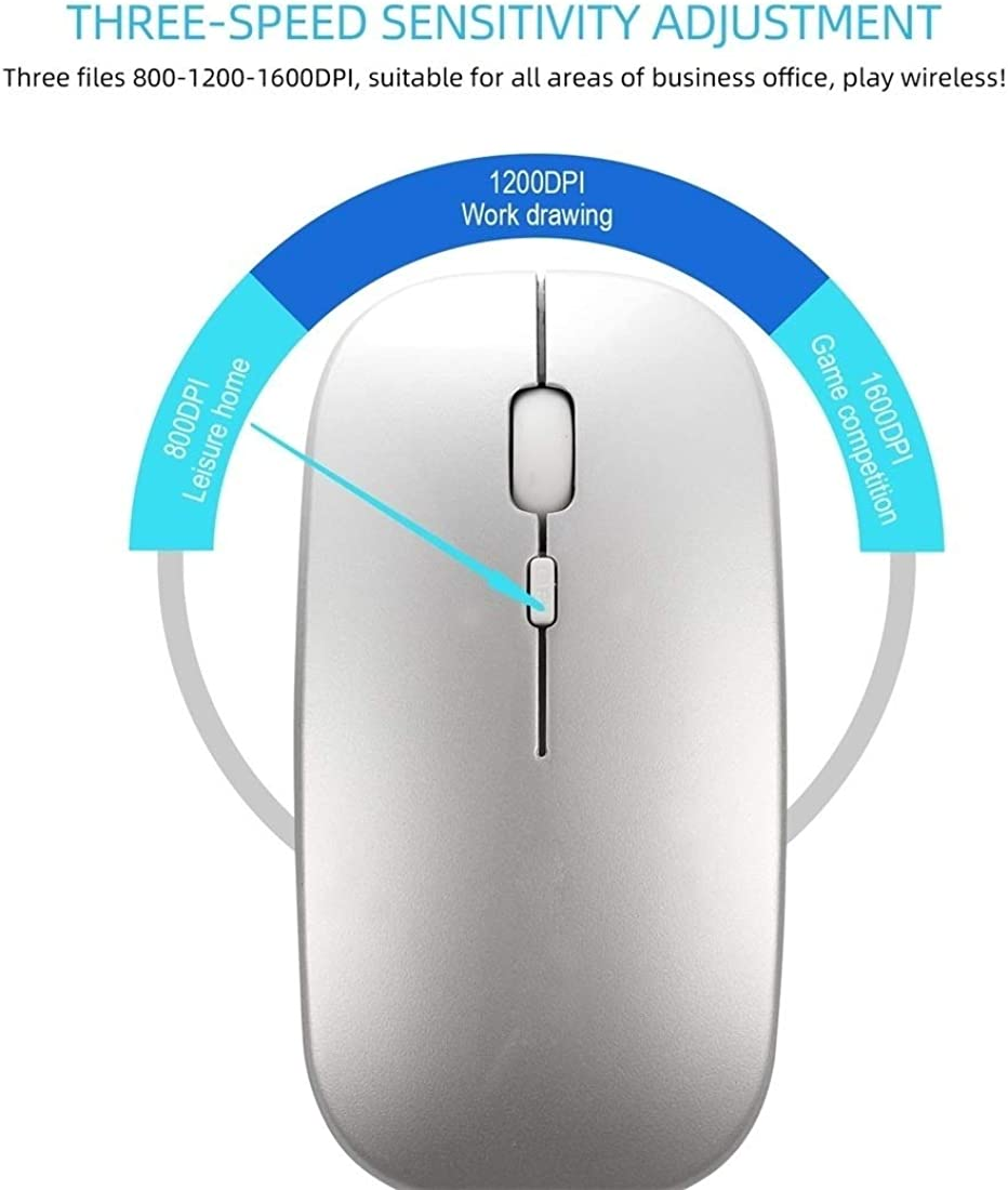 Black Mouse M90 2.4GHz Ultrathin Mute Rechargeable Dual Mode Wireless Bluetooth Notebook PC Mouse yf
