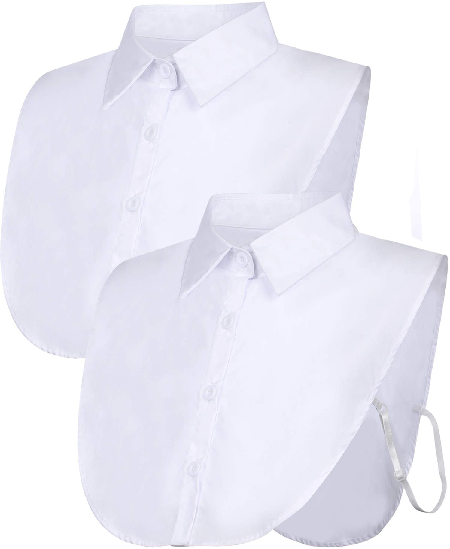 Fake Collar Detachable Dickey Collar Blouse Half Shirts Peter Pan Faux False Collar for Women /& Girls Favors