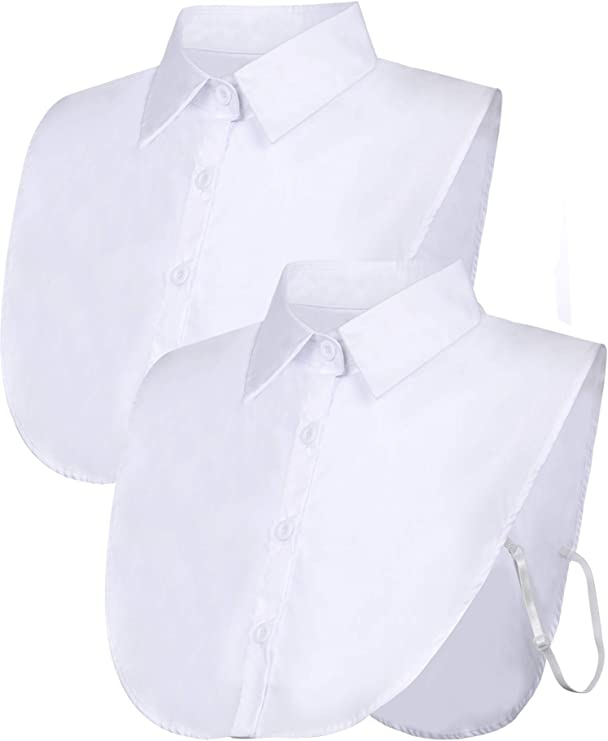 Edwardian Blouses |  Lace Blouses & Sweaters Tatuo 2 Pieces Fake Collar Detachable Blouse Dickey Collar Half Shirts False Collar for Women Favors $17.99 AT vintagedancer.com