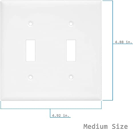 Enerlites Toggle Light Switch Wall Plate 10 Pack Polycarbonate Thermoplastic White 8811m W 10pcs Mid Size