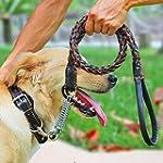 Leather Dog Leash,Comsun Braid...