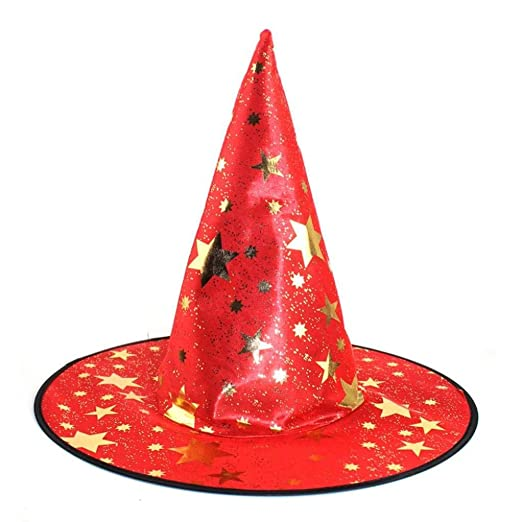 ff962d50f96 Gotd Monolayer Adult Womens Witch Hat For Halloween Costume Accessory (Red)