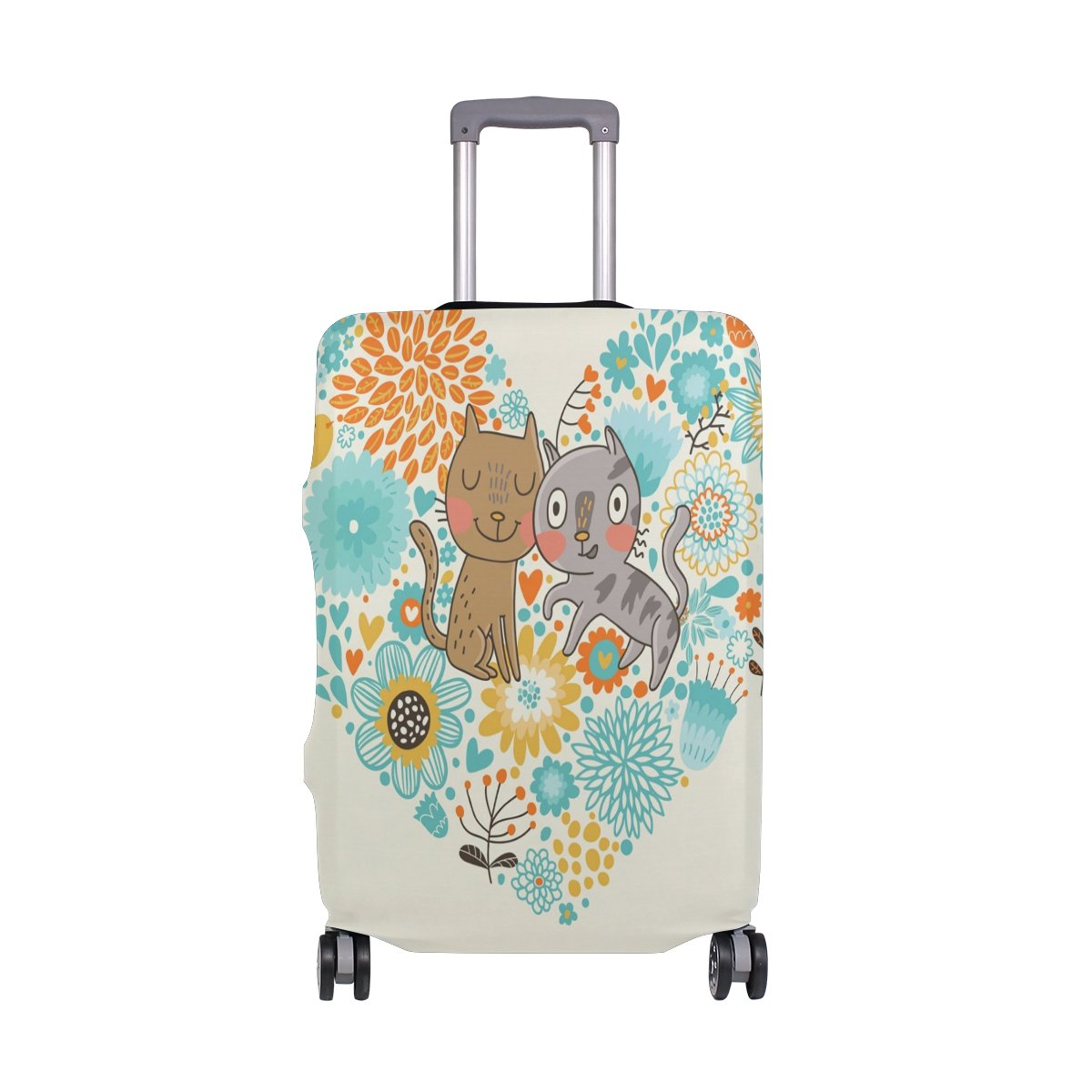 Cat Wedding Luggage Cover Elastic Suitcase Protector Fits 18-32 Inch