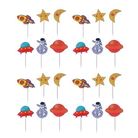 Toyvian 24 decoraciones para cupcakes, diseño de aviación ...