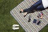Picnic Time Vista Outdoor Picnic Blanket Tote, Aqua