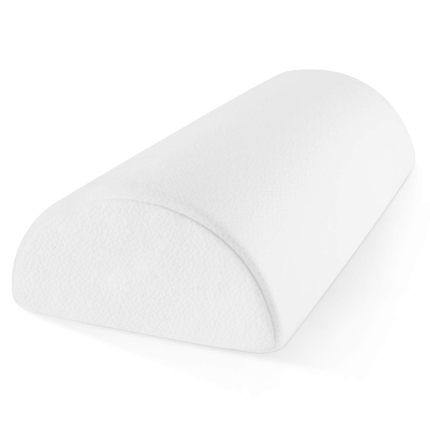 Zen Bamboo Memory Foam Half-Moon Bolster for Back and Knee Pain Relief - Wedge Pillow Provides Ultimate Support for Side and Back Sleepers - Semi Roll Pillow, Ultra-Soft, Washable Bamboo Blend Cover  by Zen Bamboo