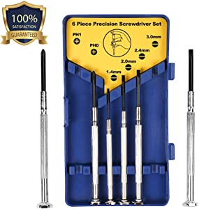 6PCS Precision Screwdriver Set, Small Screwdriver Set for Electronics, Toys, Computer, Watch Repair by Longshy.