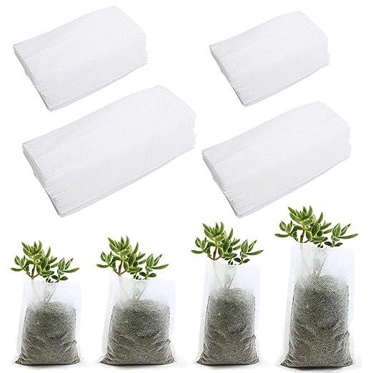 Faylapa - Bolsas de Cultivo biodegradables para Plantas, 400 ...